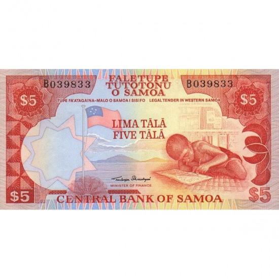 1985 - Western Samoa P26 5 Tala banknote