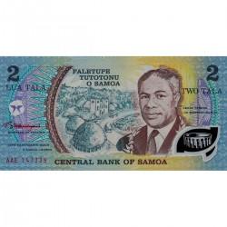 1985 - Western Samoa P31e 2 Tala banknote