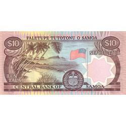 2002 - Western Samoa P34a 10 Tala banknote