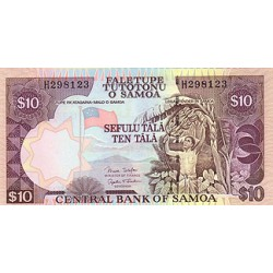 2002 - Western Samoa P4b 10 Tala banknote