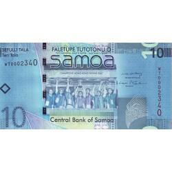 2008 - Western Samoa P39 10 Tala banknote