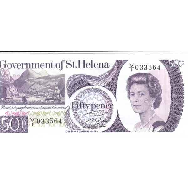 1979 - St. Helena   Pic 5         50 Pence banknote
