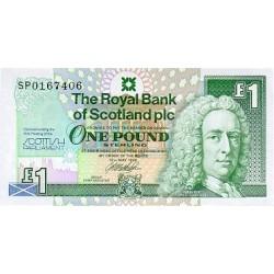 1999 -  Scotland PIC 360    1 Pound  banknote