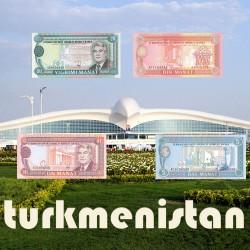 Serie 03 - Turkmenistan 4 Banknotes