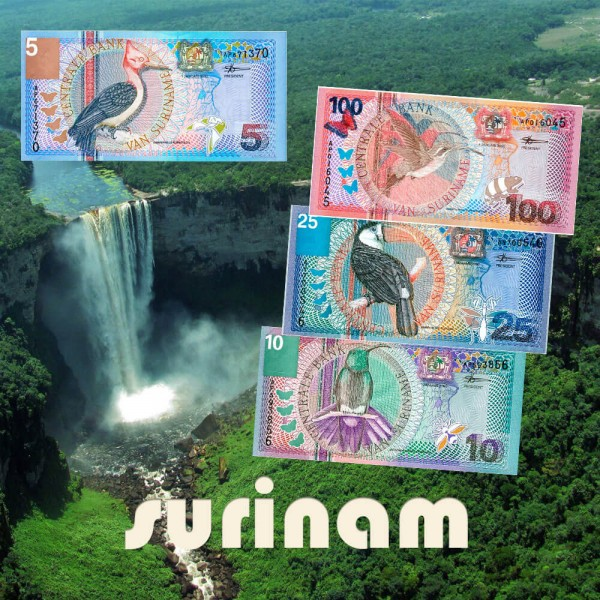 Serie 04 - Surinam 4 billetes