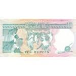 1989 - Seychelles pic 32 billete de 10 Rupias
