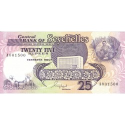 1989 - Seychelles  Pic 33     25 Rupias banknote