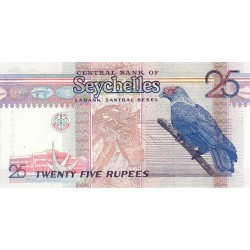 1998 - Seychelles  Pic 37    25 Rupias banknote
