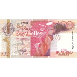 2001 - Seychelles  Pic 40a    100 Rupias banknote