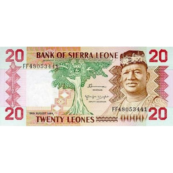 1984 - Sierra Leone Pic  14b   20 Leones banknote