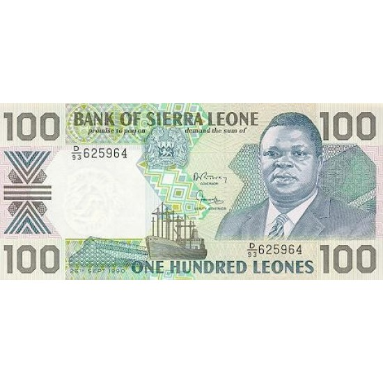 1988 - Sierra Leone Pic  18a   100 Leones banknote