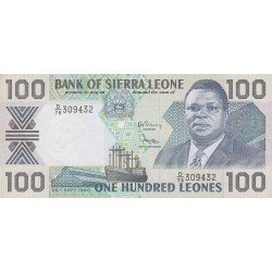 1990 - Sierra Leone Pic  18c   100 Leones banknote