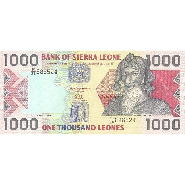 1993 - Sierra Leone Pic  20a   1000 Leones banknote