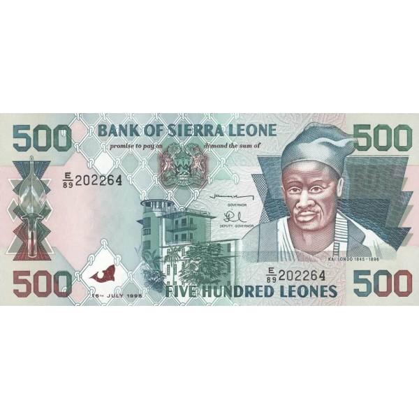 1998 - Sierra Leone Pic  23b  500 Leones banknote  ( Julie)