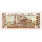 1984 - Sierra Leone Pic  4e   50 Cetns. banknote
