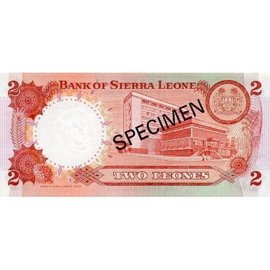 1979 - Sierra Leone Pic  6bs   2 Leones banknote  Specimen