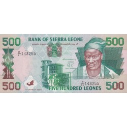 2003 - Sierra Leone Pic  23c  500 Leones banknote  ( Marz)