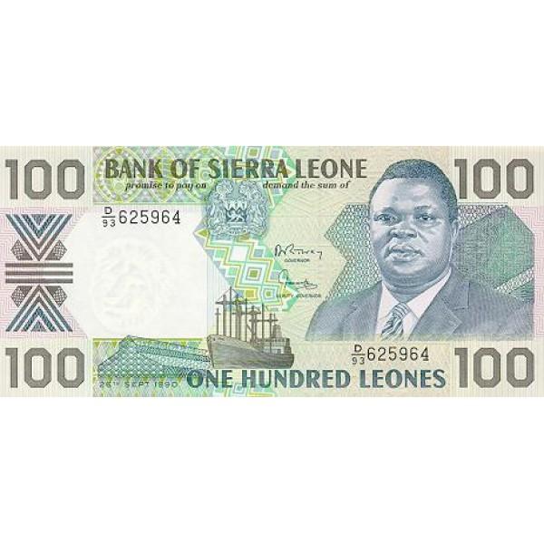 1988 - Sierra Leone Pic  18a   100 Leones banknote