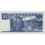 1987 - Singapur  Pic 18a    billete de 1 Dólar