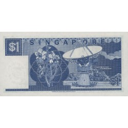 1987 - Singapor  Pic  18a      1 Dollar Banknote