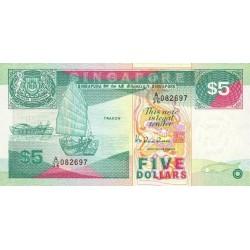 1989 - Singapor  Pic  19      5 Dollars Banknote