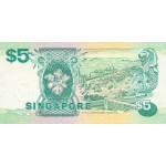 1989 - Singapur  Pic 19   billete de 5 Dólares
