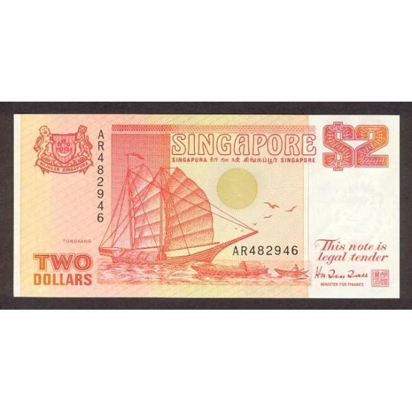 1992 - Singapur  Pic 27    billete de 2 Dólares
