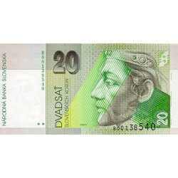 1993 -  Slovakia Pic 20 a          20 Korun banknote