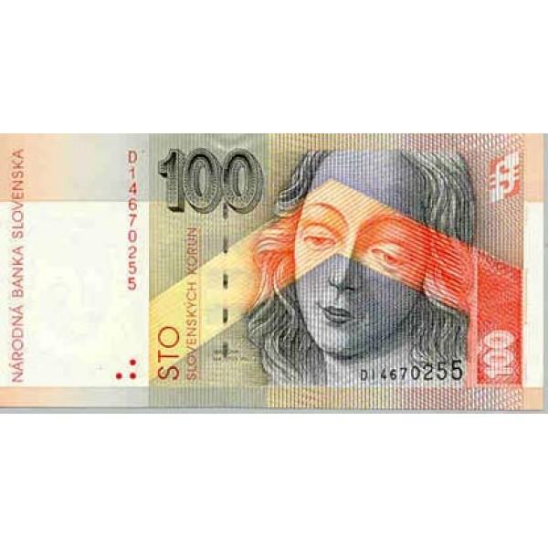 1993 -  Slovakia Pic 22           100 Korun banknote