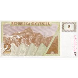 1990 - Slovenia  Pic  2           2 Tolars banknote