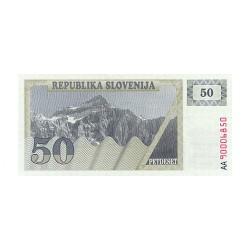 1990 - Slovenia  Pic  5          50 Tolars banknote