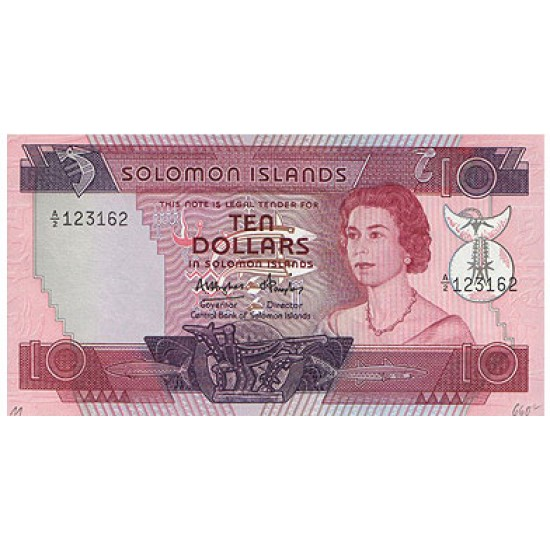 1984 - Solomon Islands  P11 10 Dollars Banknote