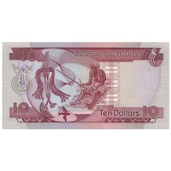 1984 - Solomon Islands  P11 10 Dollars Banknote