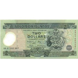 2001 - Solomon Islands  Pic  23           2 Dollars banknote