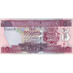 2009 - Solomon Islands P27b 10 Dollars banknote