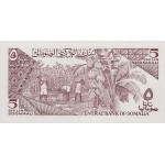 1986 - Somalia  pic  31b  billete de 5 Shillings