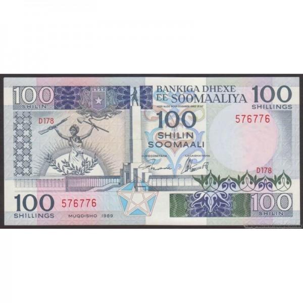 1989 - Somalia  pic  35d billete de 100 Shillings