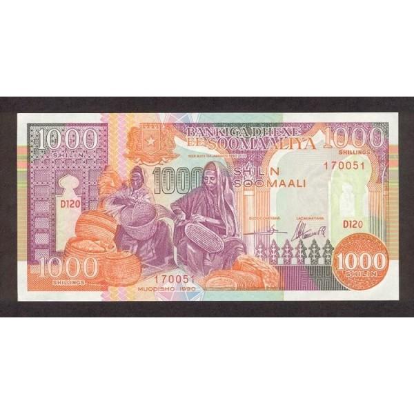 1990 - Somalia  Pic  37a       1000 Shillings banknote