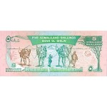 1994 - Somaliandia pic 1 billete de 5 Shillings