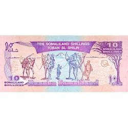 1994 - Somaliland Pic 2 10 Shillings banknote