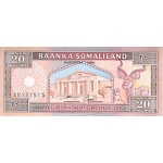 1994 - Somaliandia pic 3 billete de 20 Shillings