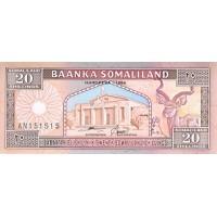 1994 - Somaliland Pic 3 20 Shillings banknote