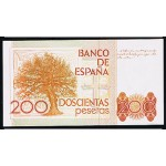 1980 - Spain   Pic 156      200 Pesetas   UNC  2  banknotes
