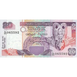 2001 - Sri Lanka     Pic  109b       20 Rupees banknote