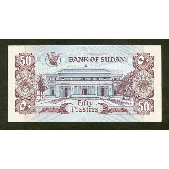 1981 - Sudan PIC 17    50 Piastras banknote