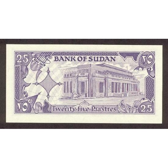 1987 - Sudan PIC 37    25 Piastras banknote