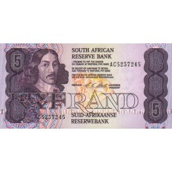 1990 - South Africa  Pic   119c   5 Rand banknote