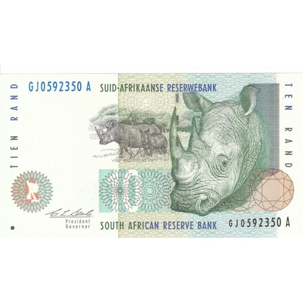 1993 - South Africa  Pic   123a     10 Rand banknote