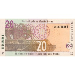 2005 - South Africa  Pic   129a     20 Rand banknote