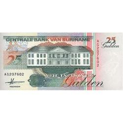 1991 - Suriname P138a 25  Gulden banknote